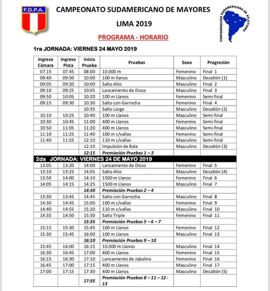 Calendario Pan Americano 2019 Peru.Hoy Se Difundio El Calendario De Competencias Del